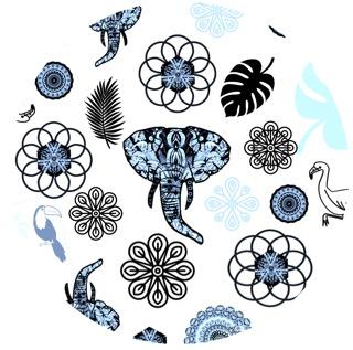 elephant circle pattern